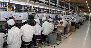 a typical Chinese electronic product factory