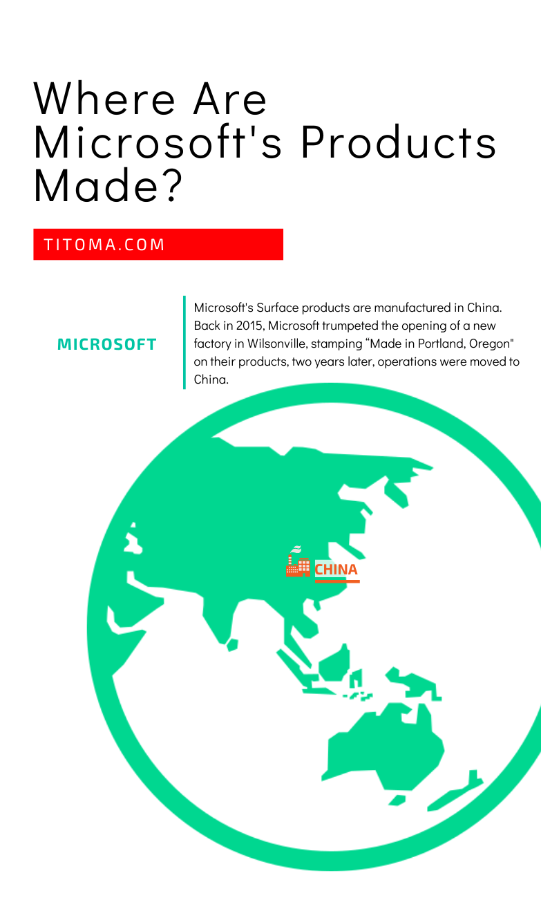 Where Are microsoft products made