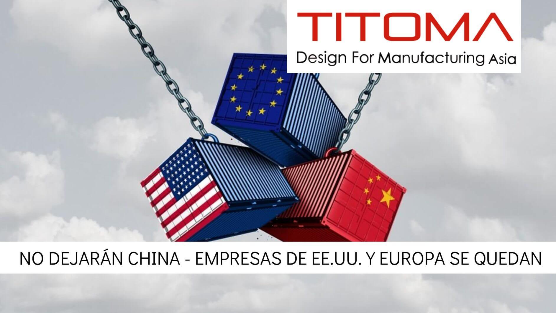 No dejaran China empresas de estadis unidos y Europa
