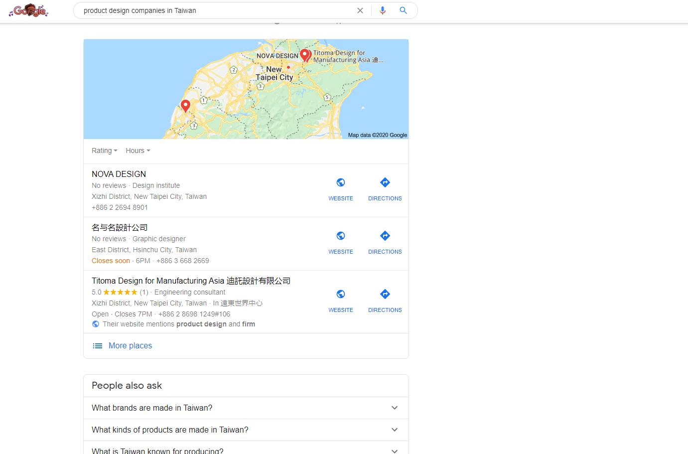 product design companies in Taiwan