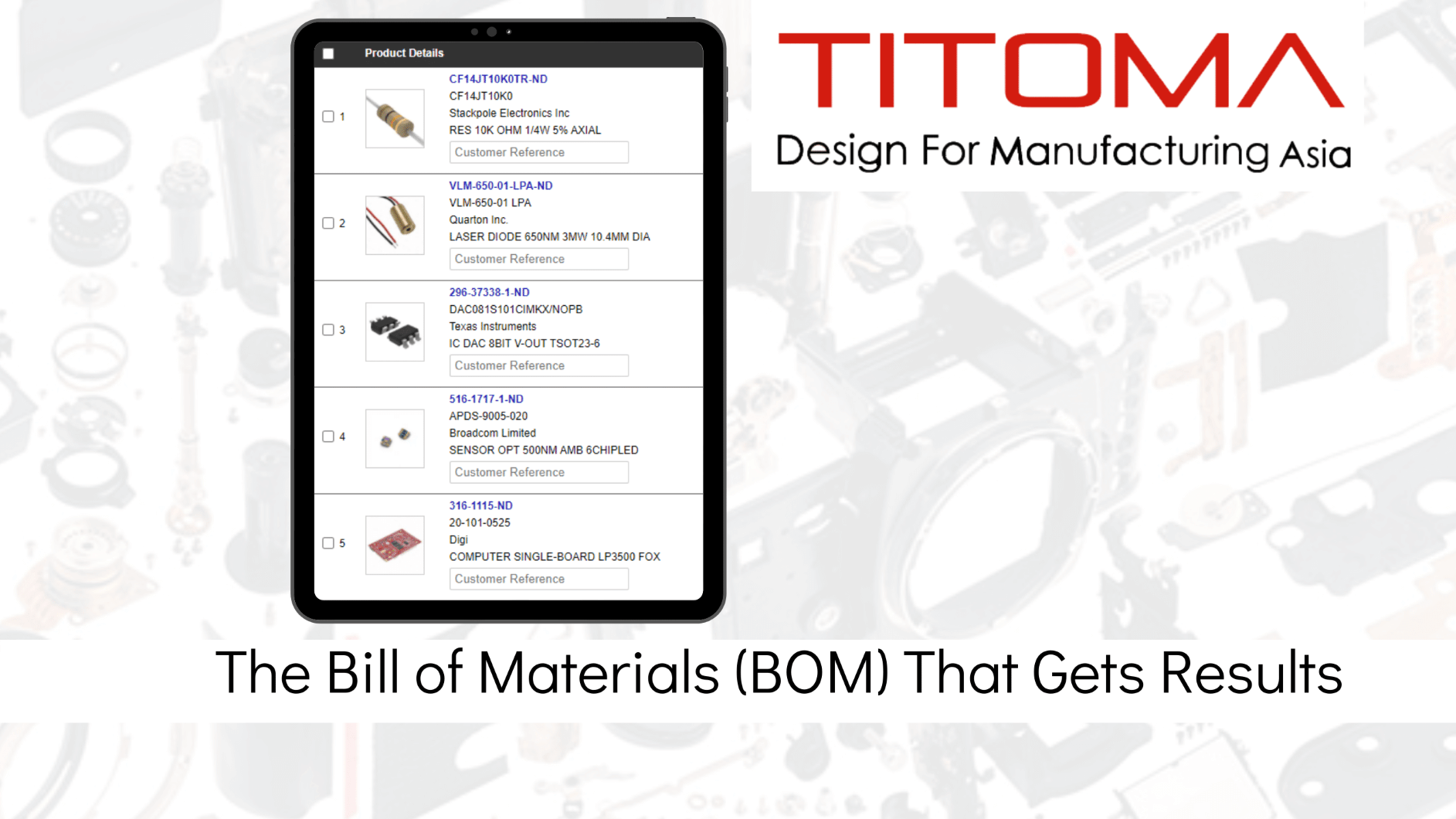 BOM bill of materials that gets results