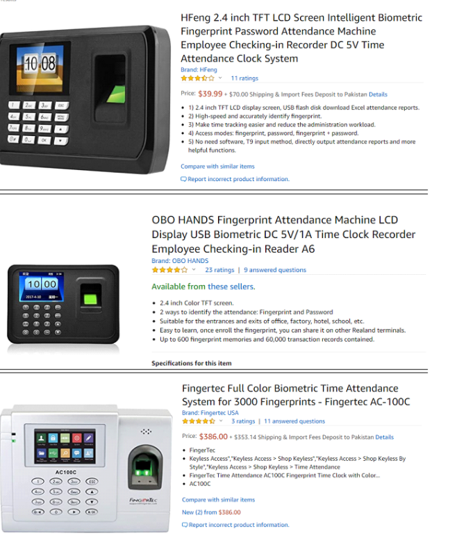 ODM Biometric access control devices