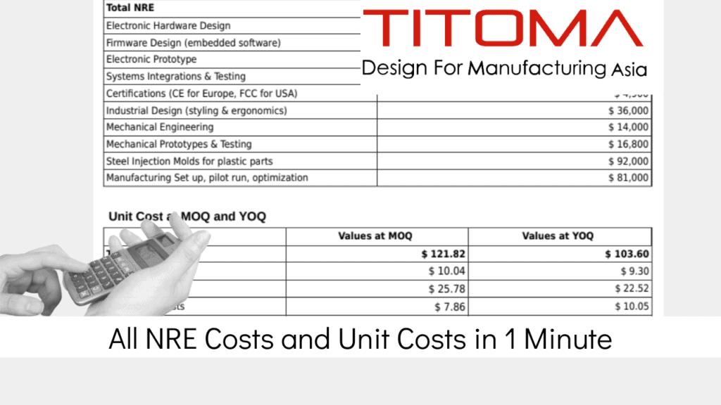 NRE Non Recurring Engineering Costs calculator