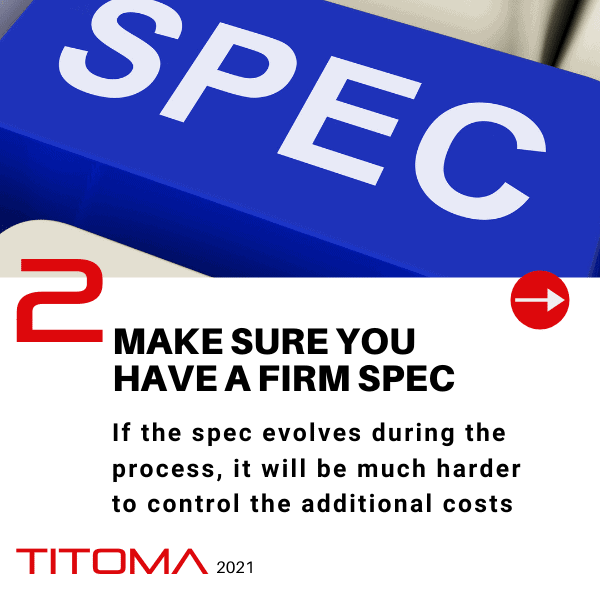 Have firm specs
