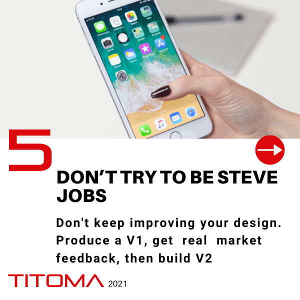 don't try to be steve jobs