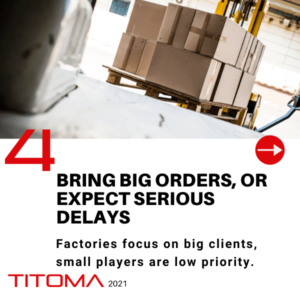 manufacturers care for big orders