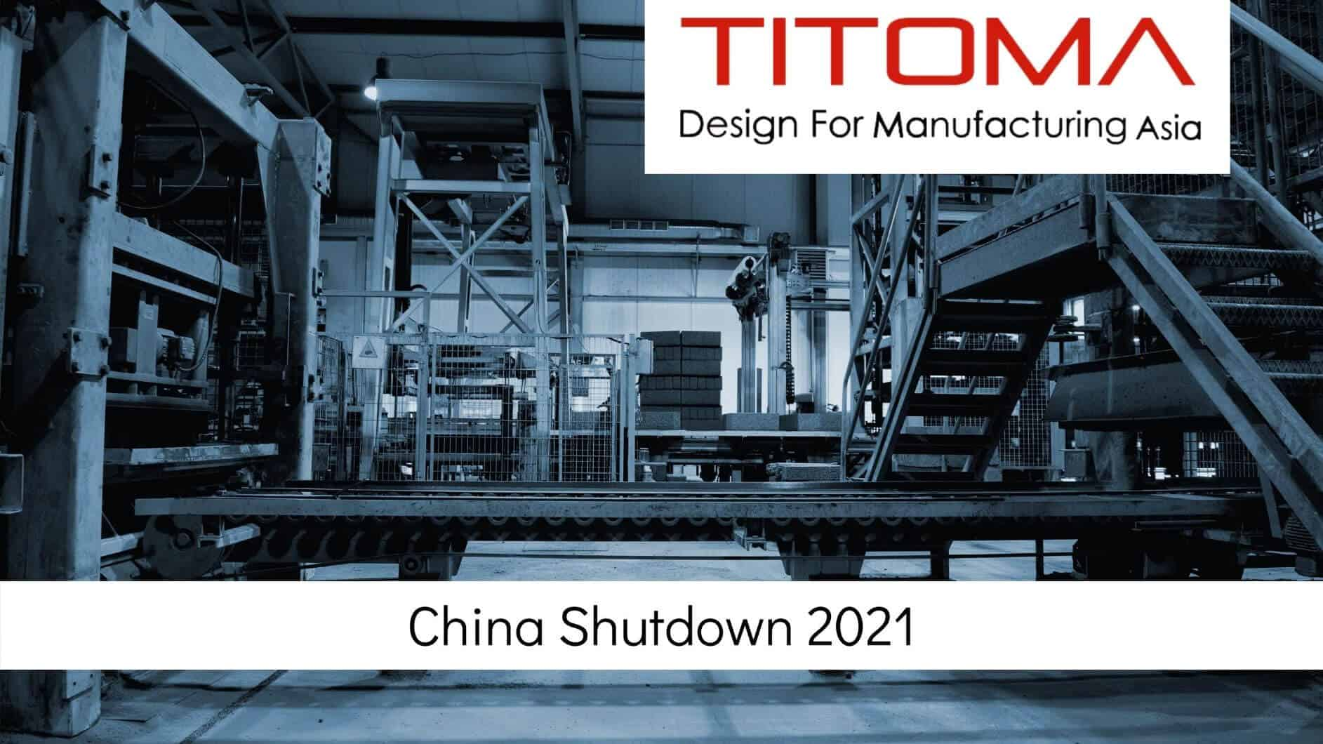 China shutdown 2021