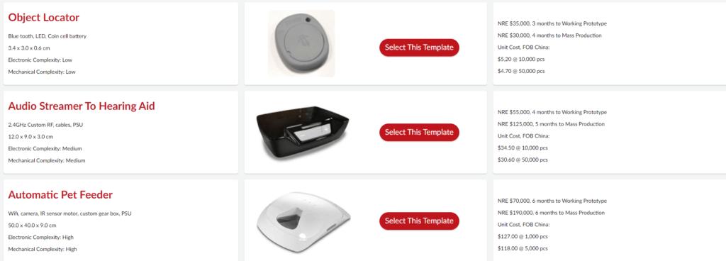 NRE Calculator Template selection
